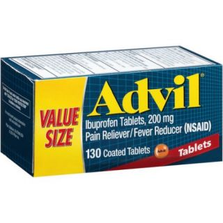 Advil Ibuprofen Pain Reliever/Fever Reducer (NSAID) Coated Tablets, 200mg, 130 count