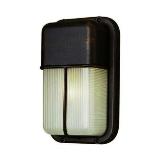 Cambridge 1 light Satin Aluminum Outdoor Flush Mount with Clear Ribbed