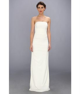 Nicole Miller Sleeveless Wedding Gown Antique White, Clothing, White