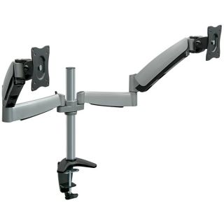 Mount It Dual Monitor Desk Mount with Height Adjustable Dual Arms for