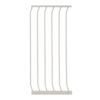 Dreambaby Chelsea Tall Auto Close 17.5 in x 39.5 in White Metal Child Safety Gate