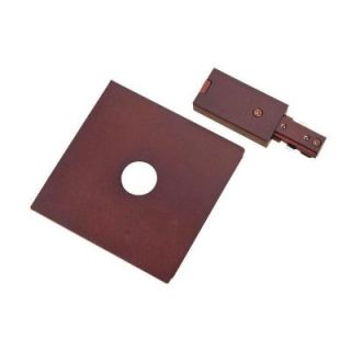 Hampton Bay Oil Rubbed Bronze Live End Power Feed with Cover Plate for Linear Track Light EC713OBR