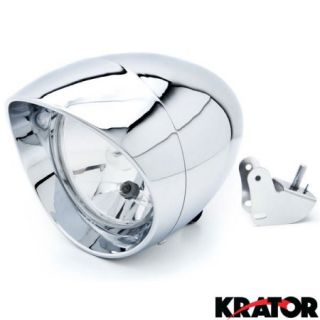 Krator® Motorcycle Custom Chrome Headlight Head Light For Kawasaki Mach 500 750 KH S3 Trial Boss