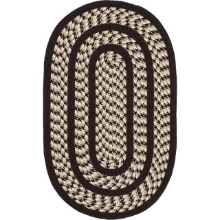 Safavieh BRD401E Braided Reversible Polypropylene Hand Woven Ivory Dark Brown Rug