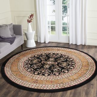 Safavieh Lyndhurst Collection Black/ Tan Rug (8 Round)   10544962