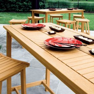Oxford Garden Dartmoor Long Bar Table   Patio Dining Tables