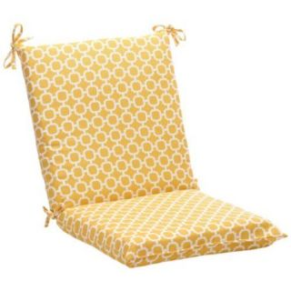 "36.5"" Eco Friendly Recycled Square Outdoor Chair Cushion   Geometric Sunshine"