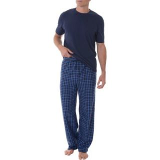 Fruit of the Loom Big Men's Fleece Sleep Pant and Knit Top Sleep Set