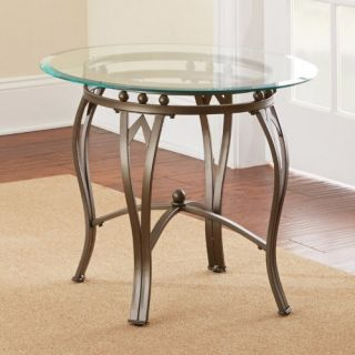 Steve Silver Madrid Round Pewter Metal End Table   End Tables
