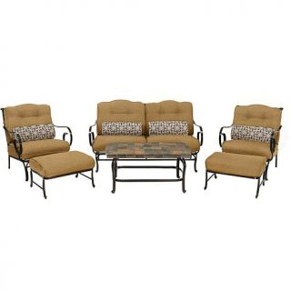 Hanover Oceana 6 piece Patio Set with Stone Top Coffee Table   Country Cork   8018056