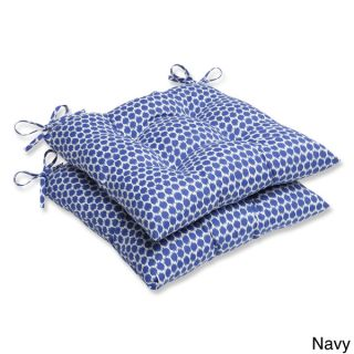 Pillow Perfect Seeing Spots Wrought Iron Seat Outdoor Cushions (Set of