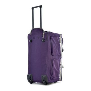 Sports Plus Dark Lavender 26 inch 8 Pocket Rolling Duffel Bag