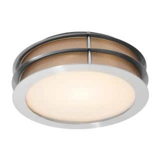 Access Lighting Iron 12 in W Brushed Steel Ceiling Flush Mount Light