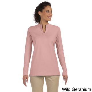 Womens Stretch Jersey Mandarin Collar Tunic   Shopping