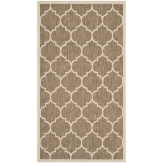Safavieh Indoor/ Outdoor Courtyard Brown/ Bone Contemporary Rug (23 x