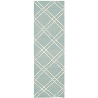 Safavieh Dhurries Light Blue/Ivory Area Rug