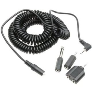 Maxell 20 Foot Coiled Headphone Extension Cord w/ 4 Adapters
