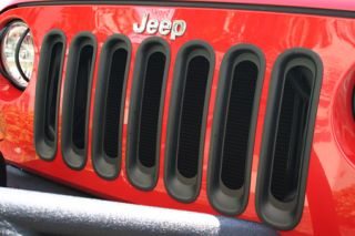 2007 2017 Jeep Wrangler Bar Billet Grilles   Rugged Ridge 11306.3   Rugged Ridge Grille Inserts