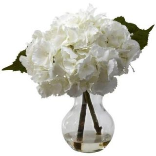 Nearly Natural Blooming Hydrangea with Vase Arrangement 1314