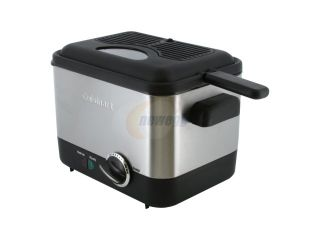 Cuisinart CDF 100 Compact 1.1 Liter Deep Fryer, Brushed Stainless Steel