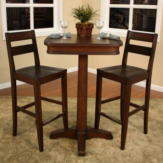 AHB Taylor 3 pc. Pub Table Set with 2 Bar Stools   Pub Tables & Sets