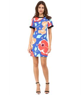Kate Spade New York Jacquard Dress Ocean Blue Multi