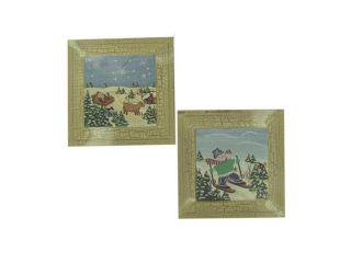 Bulk Buys Home Indoor Holiday Decorative Christmas Print Assorted Designs 24 Pack