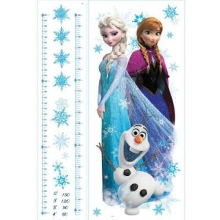 RoomMates 5 in. x 19 in. Frozen Elsa, Anna and Olaf 20 Piece Peel and Stick Giant Growth Chart Wall Decal RMK2793GC
