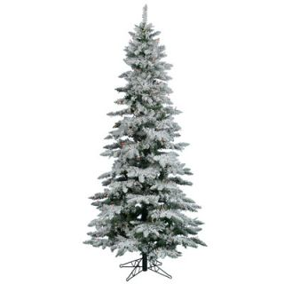 Vickerman Flocked Utica Fir 6.5 White Artificial Christmas Tree with