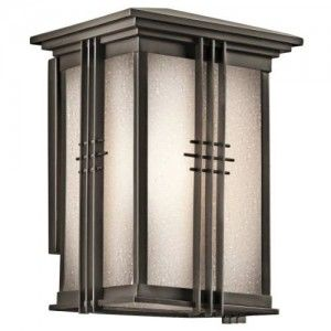 Kichler 49158OZ Outdoor Light, Arts and Crafts/Mission Wall Lantern 1 Light Fixture   Olde Bronze
