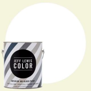 Jeff Lewis Color 1 gal. #JLC610 White Collar No Gloss Ultra Low VOC Interior Paint 101610