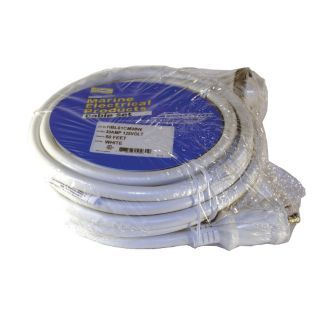 HUBBELL WIRING DEVICE KELLEMS 50 ft. Indoor, Outdoor 125V Extension Cord, 30 Max. Amps, White   1UKA9|HBL61CM08W