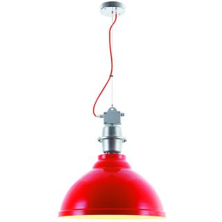 Elegant Lighting Industrial Collection Pendant lamp with Red Finish