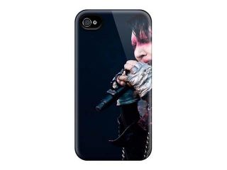 Hot Ifi805FYxw Marilyn Manson Band Tpu Case Cover Compatible With Iphone 4/4s