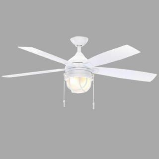 Hampton Bay Seaport 52 in. Indoor/Outdoor White Ceiling Fan AL634 WH
