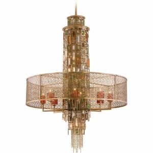 Corbett Lighting COR 123 715 Riviera Riviera Bronze/Silver Leaf  Pendants Lighting