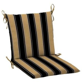 Hampton Bay Twilight Stripe with Roux Mid Back Outdoor Chair Cushion AC30552X D9D1
