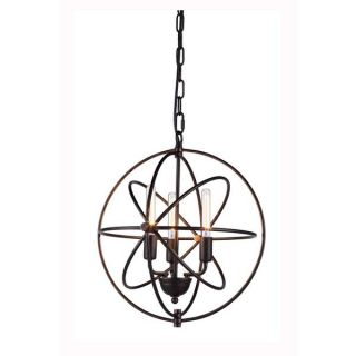 Elegant Lighting Vienna Collection 1453 Pendant lamp with Dark Bronze