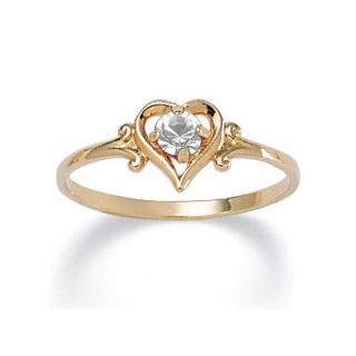 Palm Beach Jewelry Birthstone Heart Shaped Ring