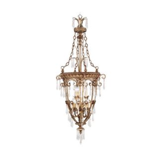 Livex Lighting 8816 65 Vintage Gold Leaf Pendant Light