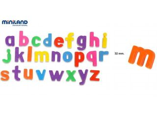 Miniland Educational 97913 Magnetic lower case letters (155 pieces) / Jar