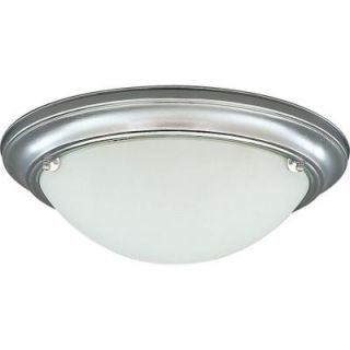 Progress Lighting Eclipse Collection Brushed Steel 2 light Flushmount DISCONTINUED P3561 13