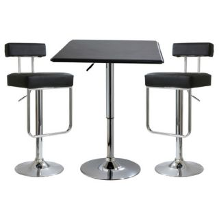Buffalo Tools AmeriHome 3 Piece Adjustable Height Pub Table Set