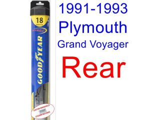 1991 1993 Plymouth Grand Voyager Replacement Wiper Blade Set/Kit (Set of 3 Blades) (Goodyear Wiper Blades Hybrid) (1992)