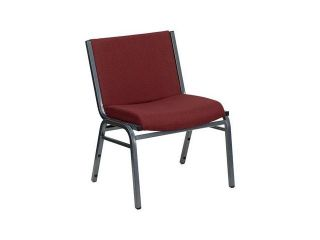 Flash Furniture HERCULES Series 1000 lb. Capacity Big and Tall Extra Wide Burgundy Fabric Stack Chair