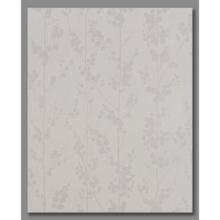Superfresco Easy White/Mica Paper Ivy/Vines Wallpaper