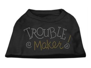 Mirage Pet Products 52 80 SMBK Trouble Maker Rhinestone Shirts Black S   10