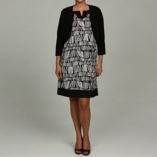 Jessica Howard Womens Plus Size Geometric Print Sweater and Dress Set