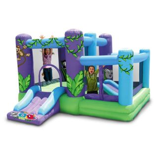 Kidwise Zoo Park Inflatable Bounce House with Ball Pit   Bounce Houses