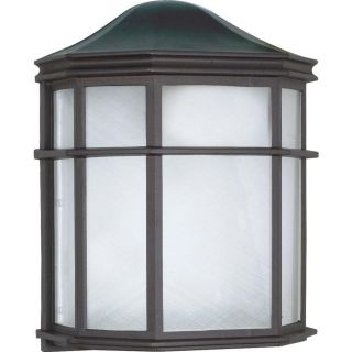 10.9 in H Textured Black Outdoor Wall Light